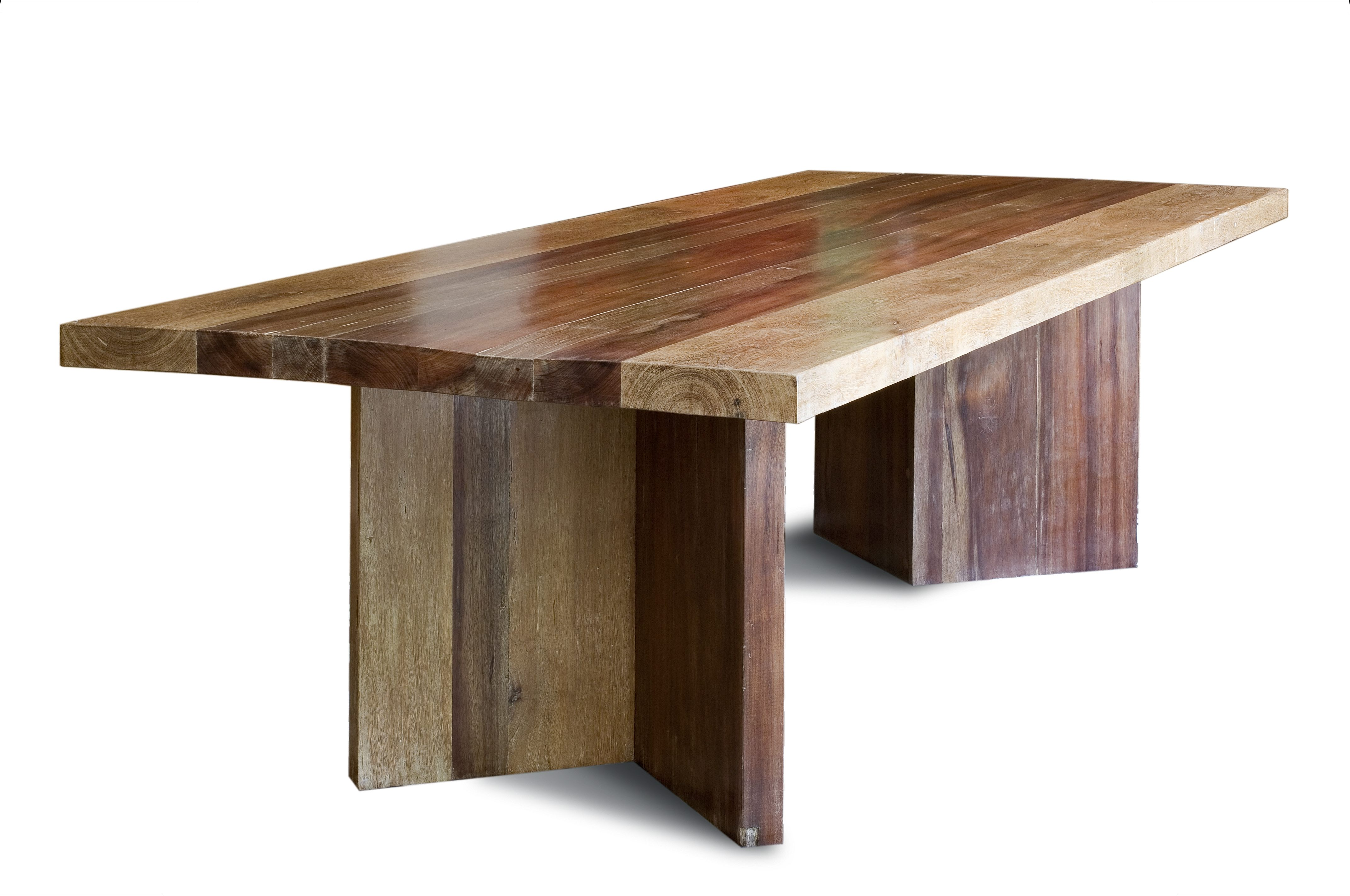 Rustic Dining Table with V-Base  Furniture Tree