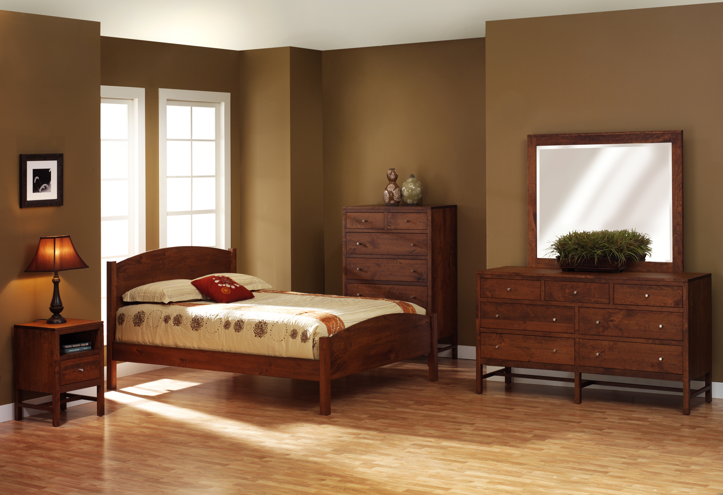 beds pin cherry furniture bedroom amish rustic